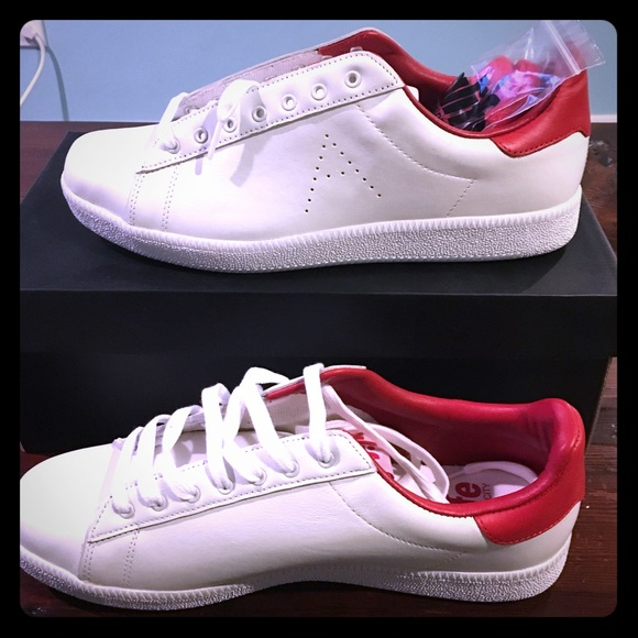 865ac150a0728f ALIFE - INDOOR LOW LEATHER - sz. 11 - White   Red